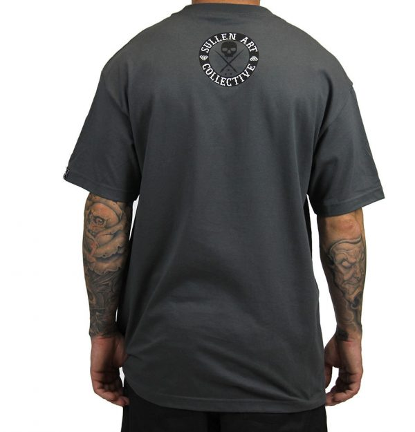 All Day Badge Mens Tee - Charcoal