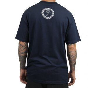 All Day Badge Mens Tee - Navy