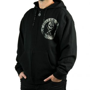 Badge Of Honor Mens Zip Hoodie - Blaq