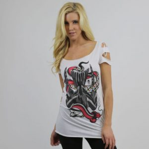 Downward Sparrow Womens Tee