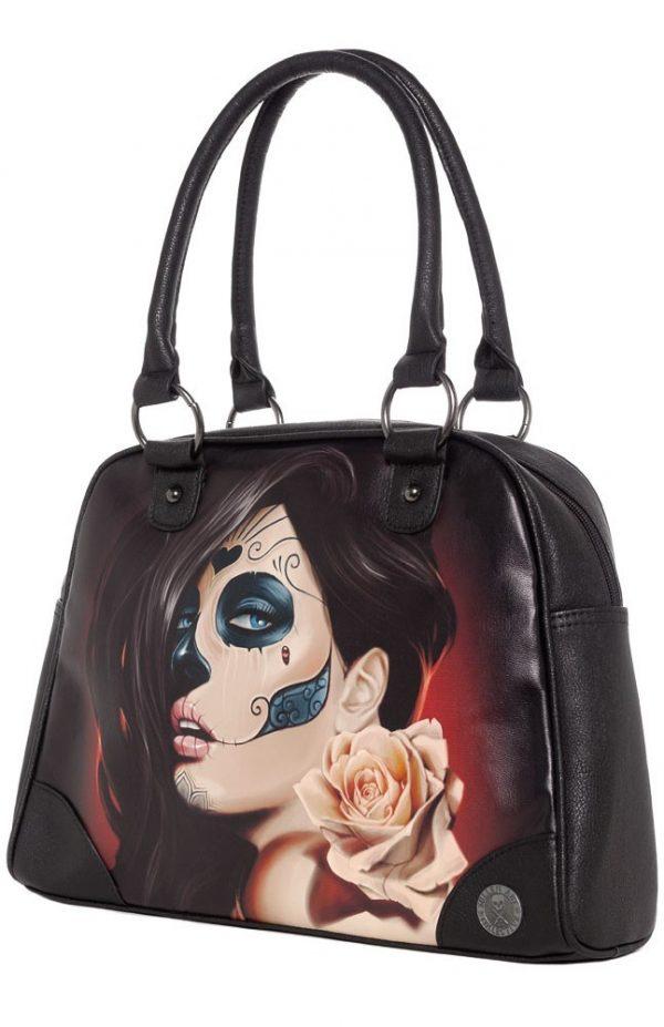 Muerta Rose Womens Handbag
